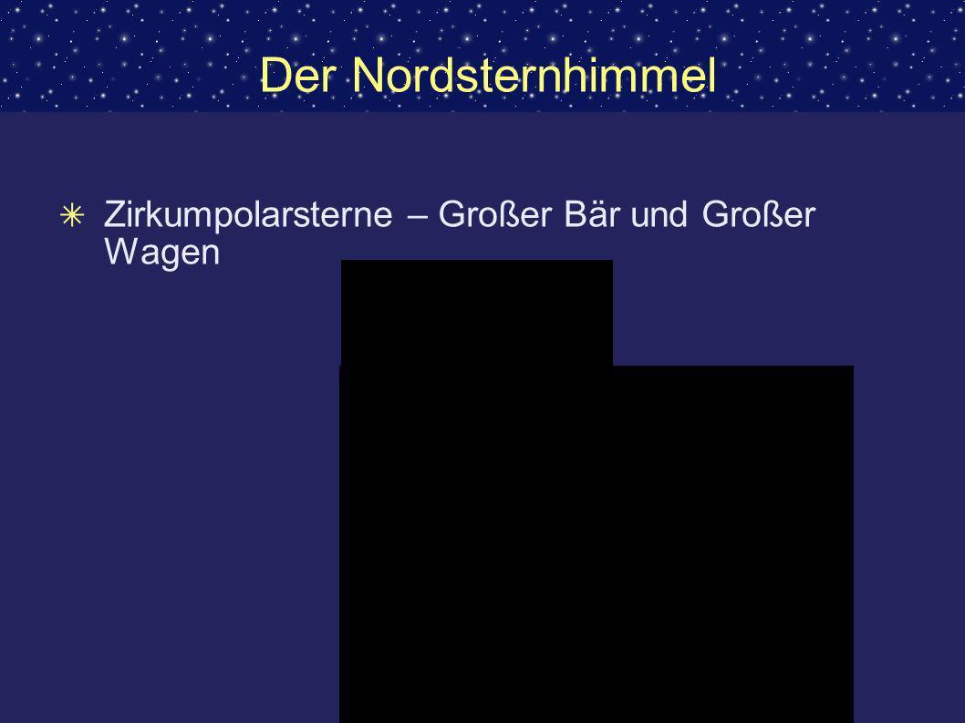 Der Nordsternhimmel Zirkumpolarsterne – Großer Bär und Großer Wagen