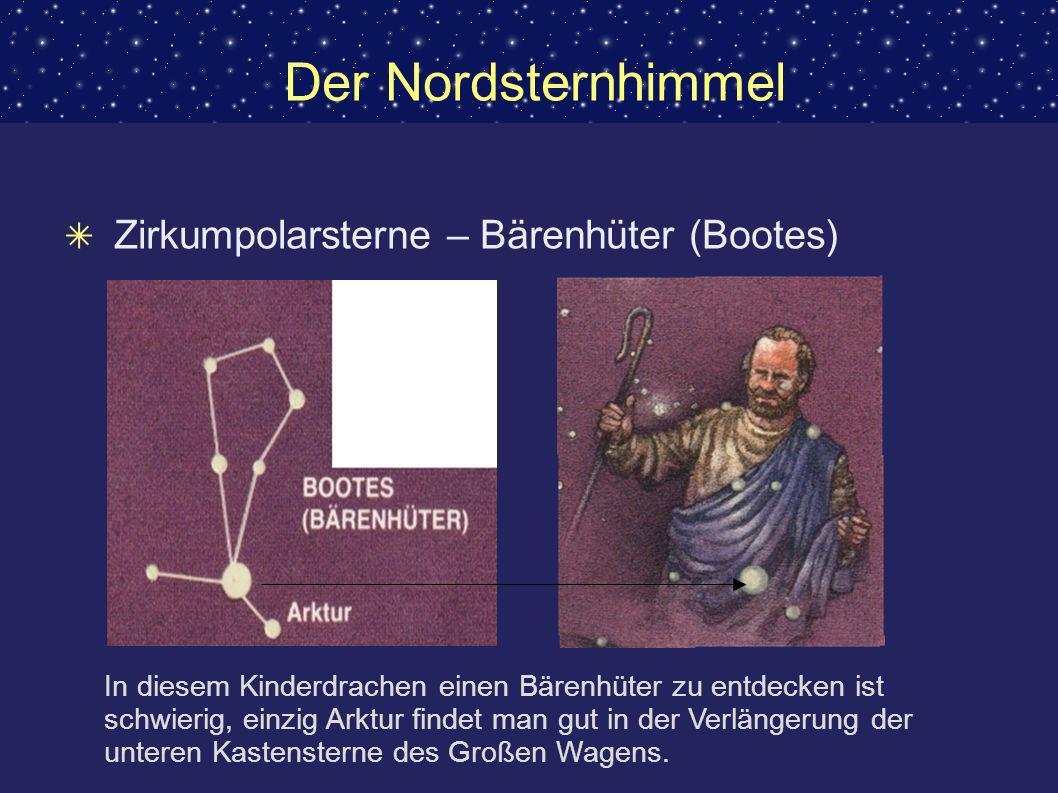 Der Nordsternhimmel Zirkumpolarsterne – Bärenhüter (Bootes)