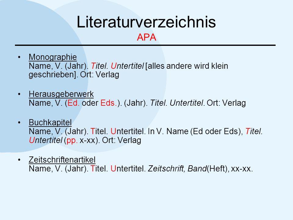 Literaturverzeichnis APA