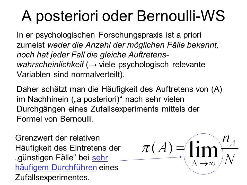 A posteriori oder Bernoulli-WS