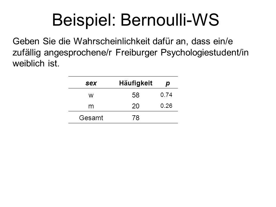 Beispiel: Bernoulli-WS