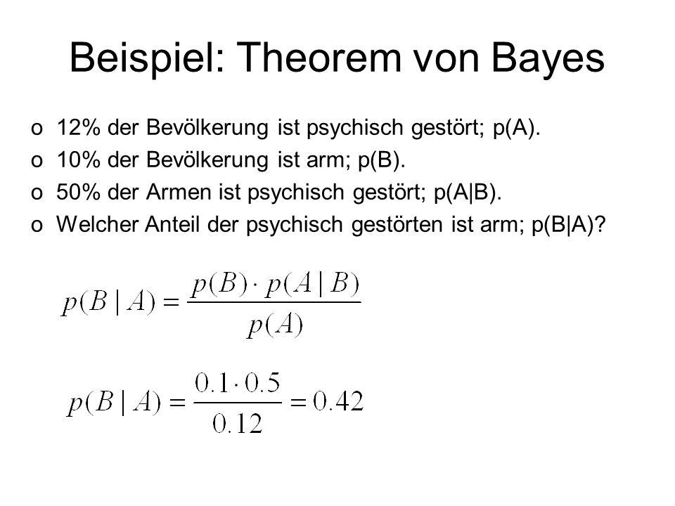 Beispiel: Theorem von Bayes