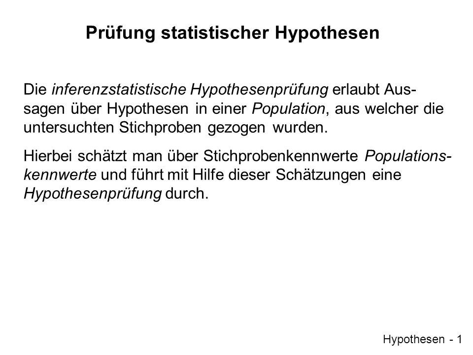 Prüfung statistischer Hypothesen