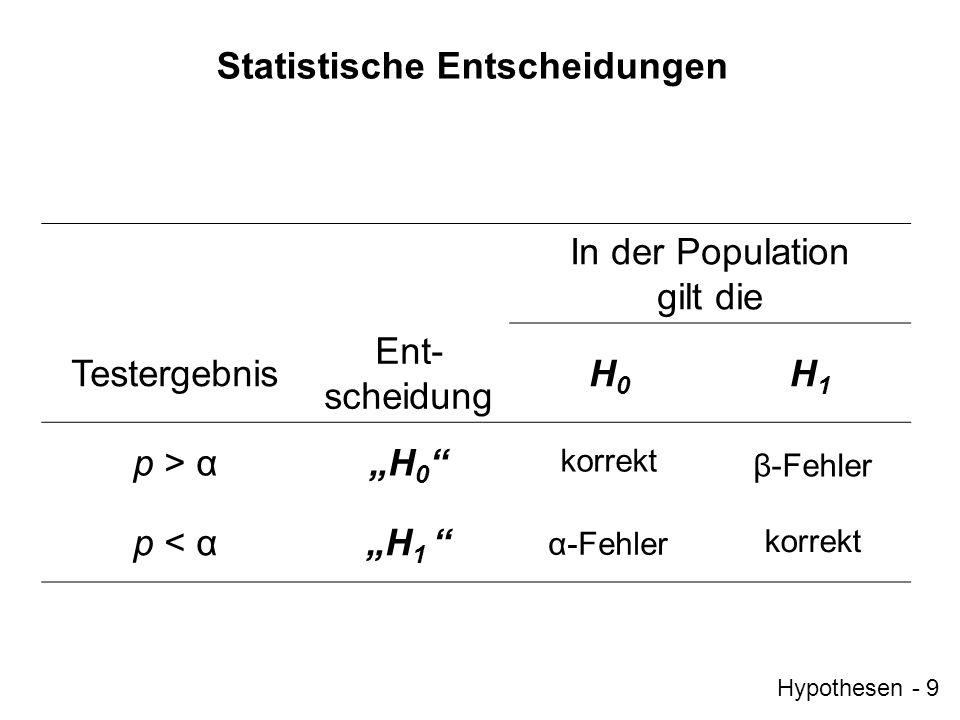 Statistische Entscheidungen