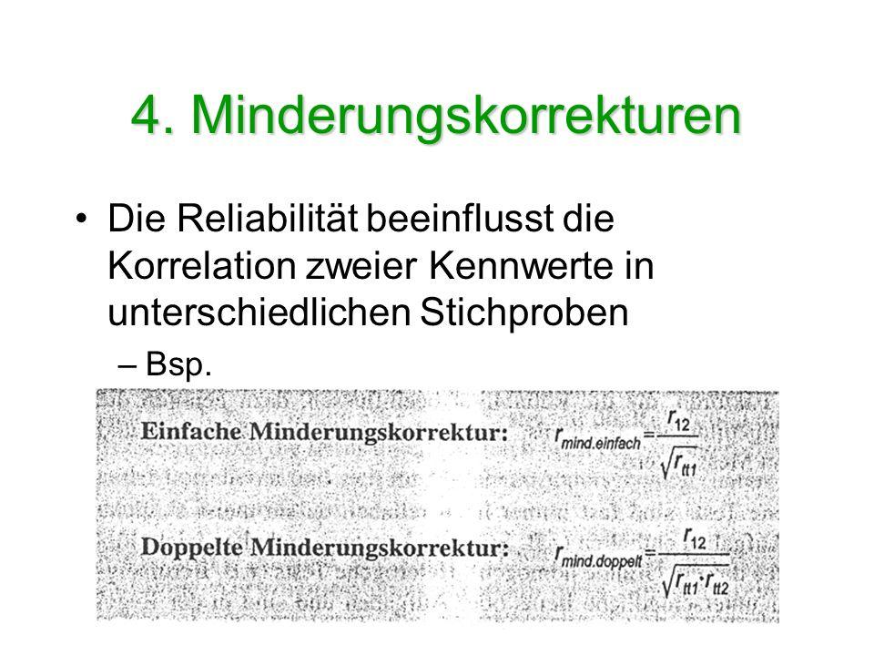 4. Minderungskorrekturen