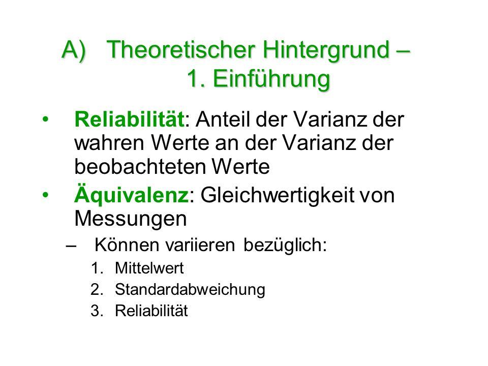 Theoretischer Hintergrund – 1. Einführung
