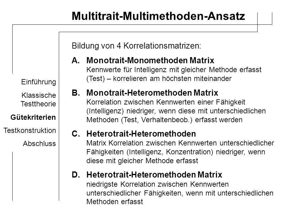 Multitrait-Multimethoden-Ansatz