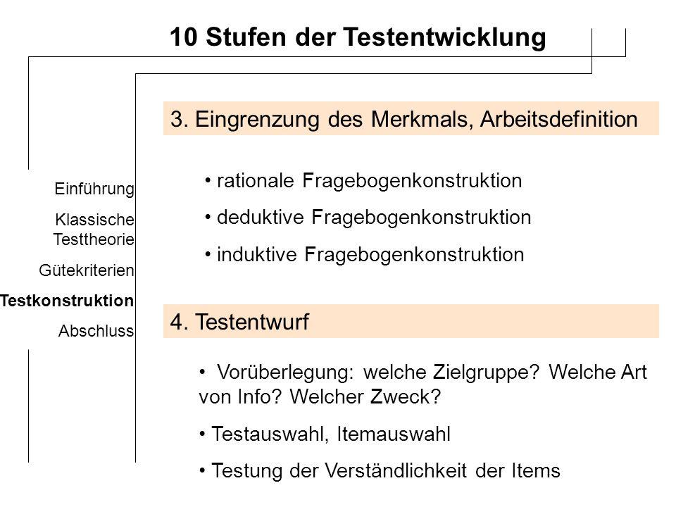 10 Stufen der Testentwicklung