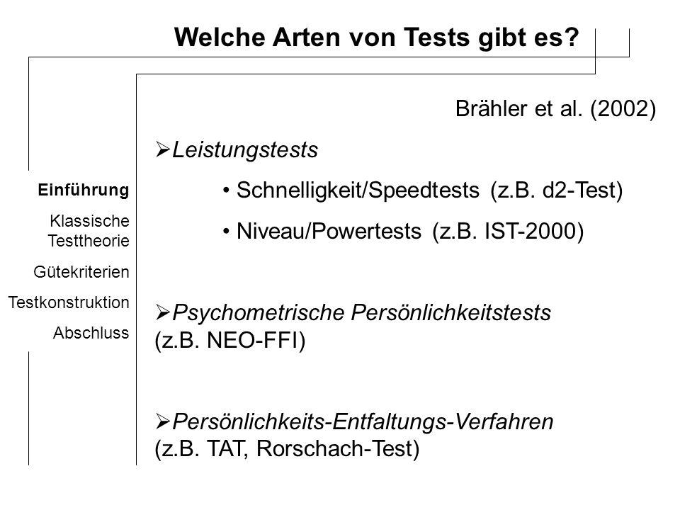 Welche Arten von Tests gibt es