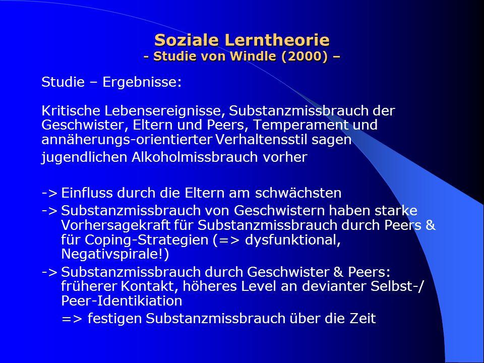 Soziale Lerntheorie - Studie von Windle (2000) –