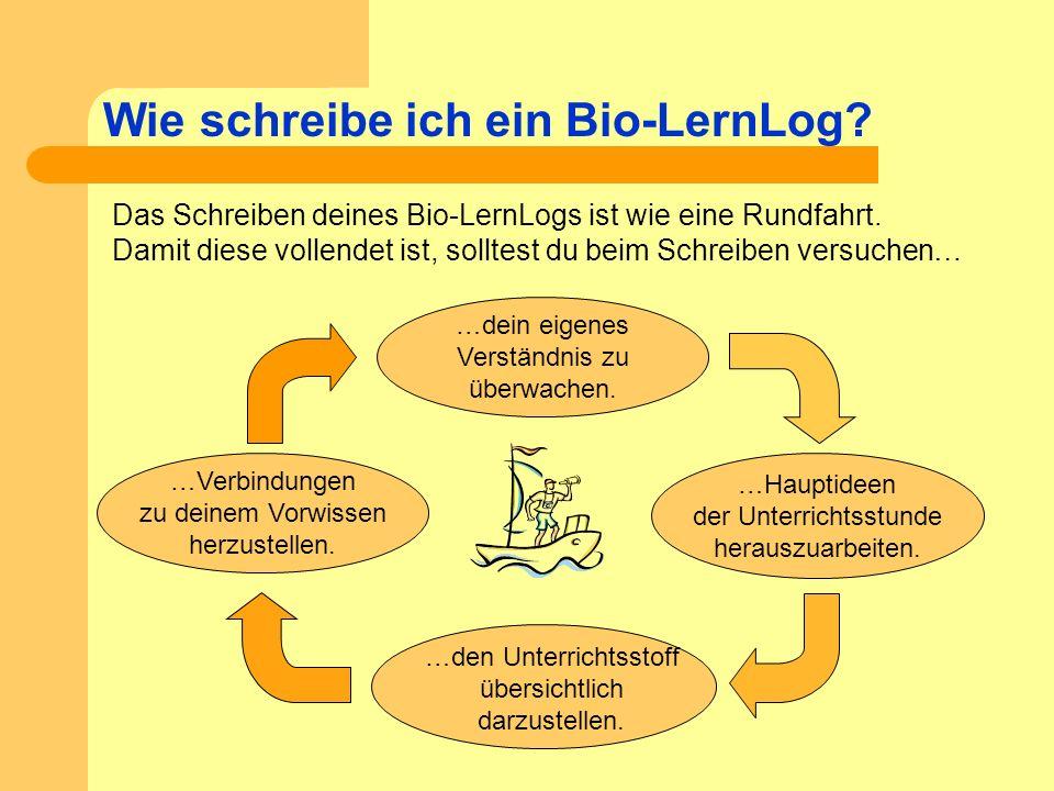 Wie schreibe ich ein Bio-LernLog