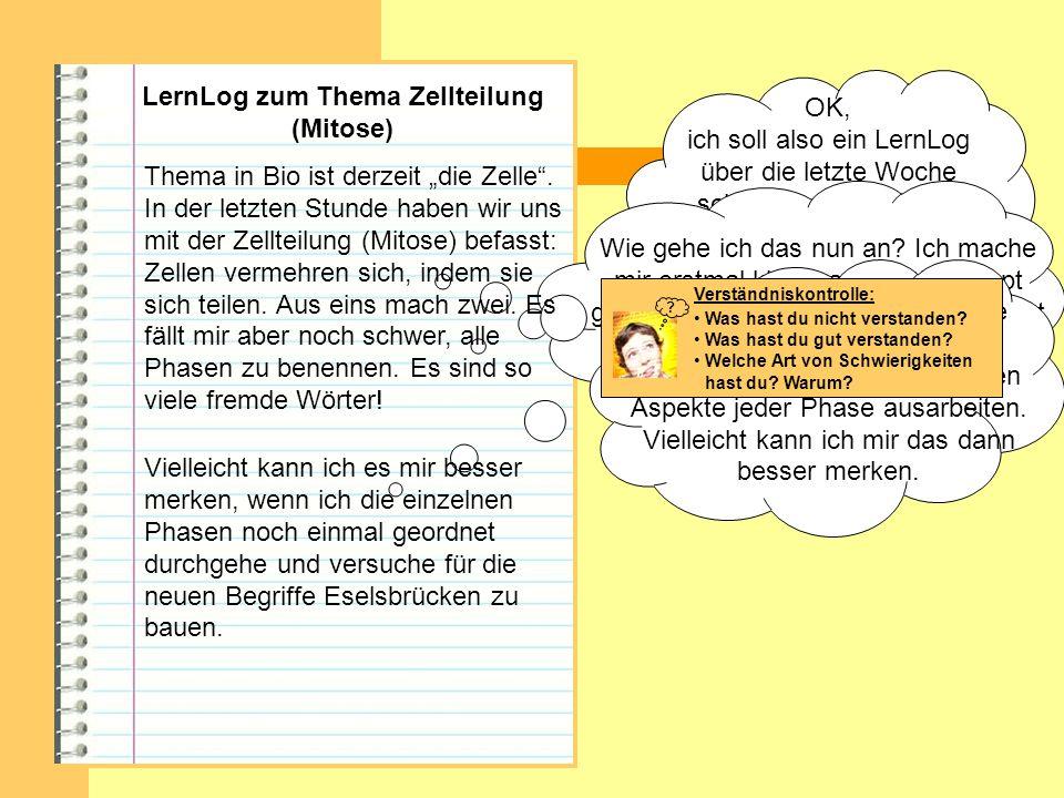 LernLog zum Thema Zellteilung (Mitose)