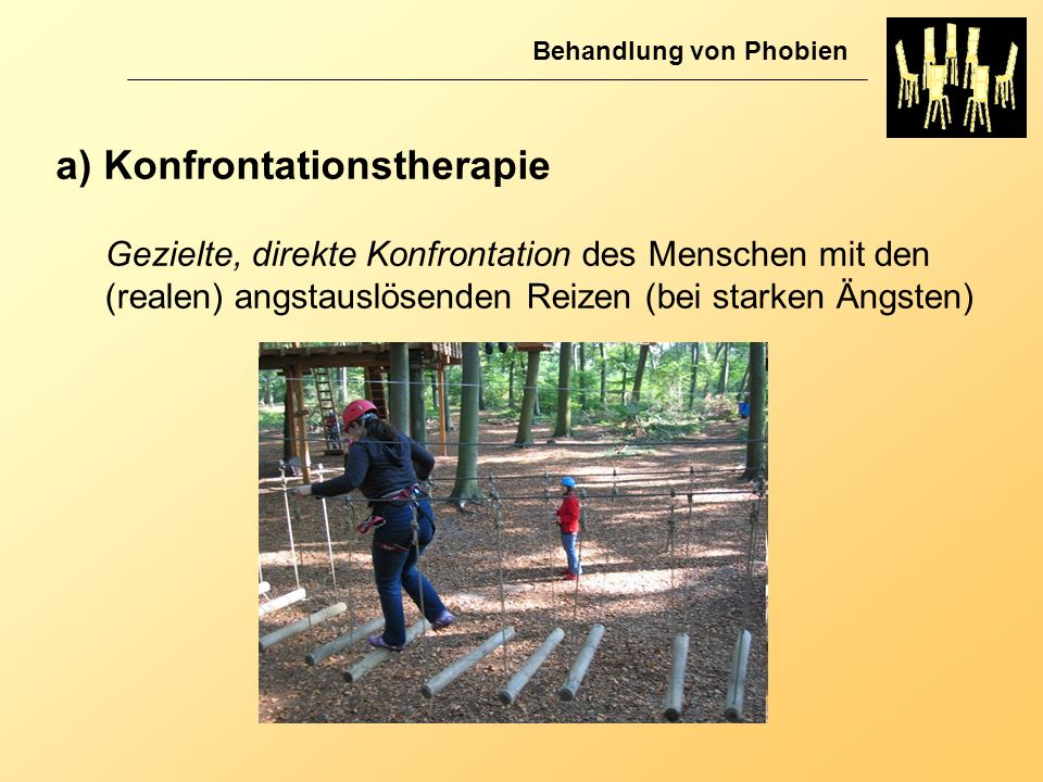 a) Konfrontationstherapie