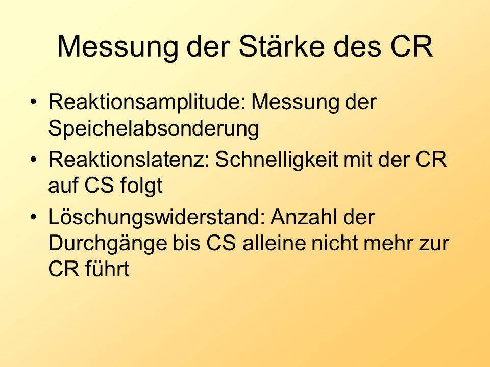 Messung der Stärke des CR