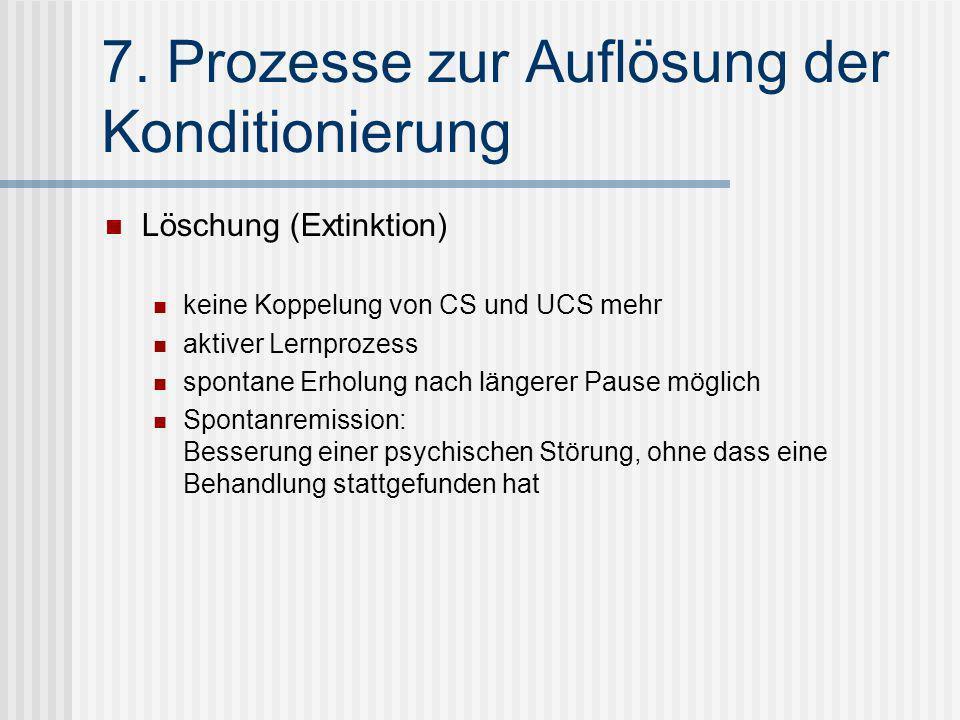 7. Prozesse zur Auflösung der Konditionierung