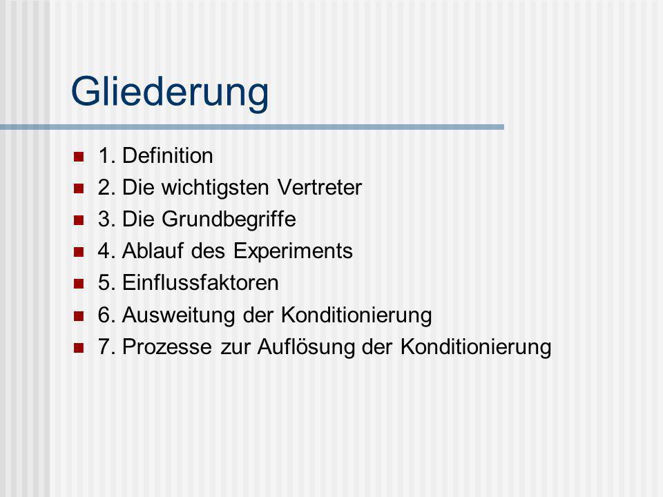 Gliederung 1. Definition 2. Die wichtigsten Vertreter