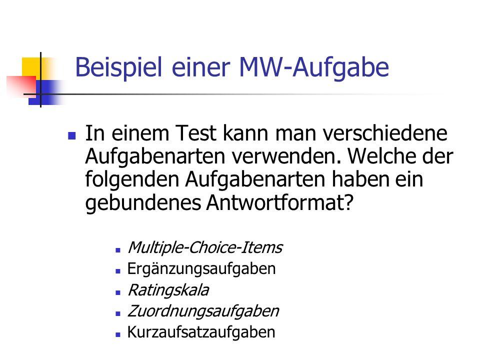 Beispiel einer MW-Aufgabe