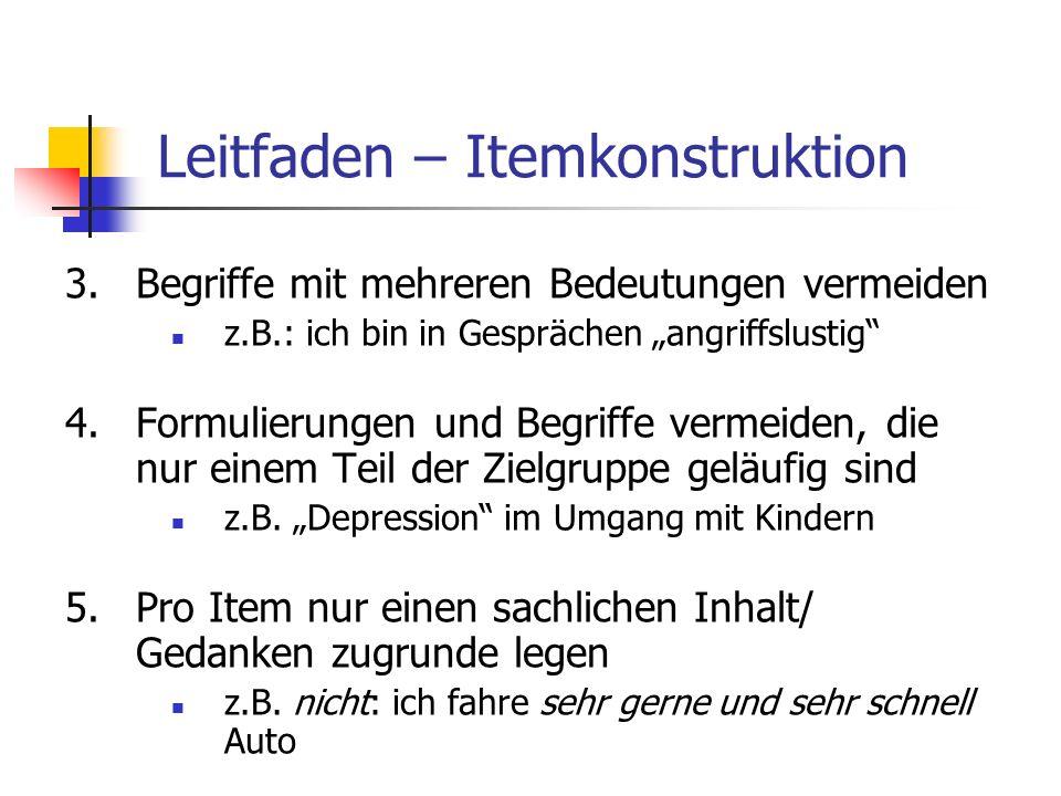 Leitfaden – Itemkonstruktion
