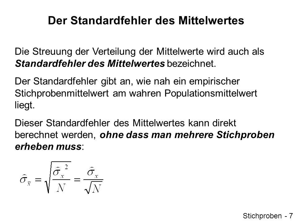 Der Standardfehler des Mittelwertes