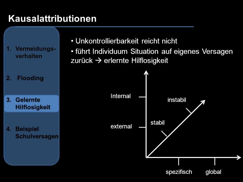 Kausalattributionen Unkontrollierbarkeit reicht nicht