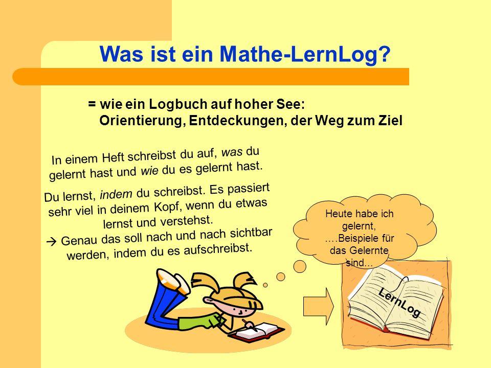 Was ist ein Mathe-LernLog