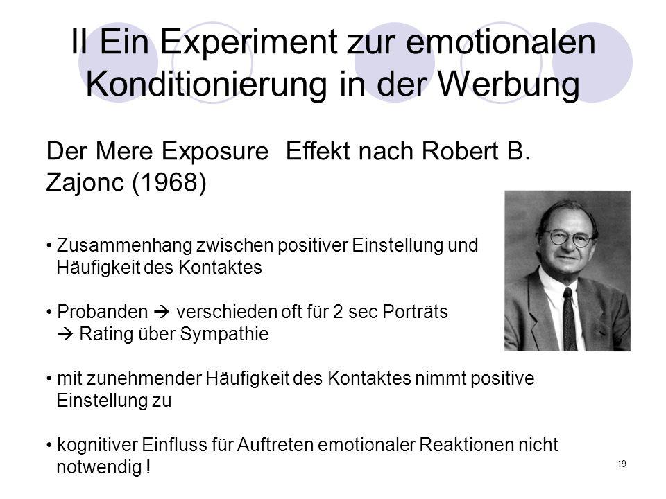 II Ein Experiment zur emotionalen Konditionierung in der Werbung