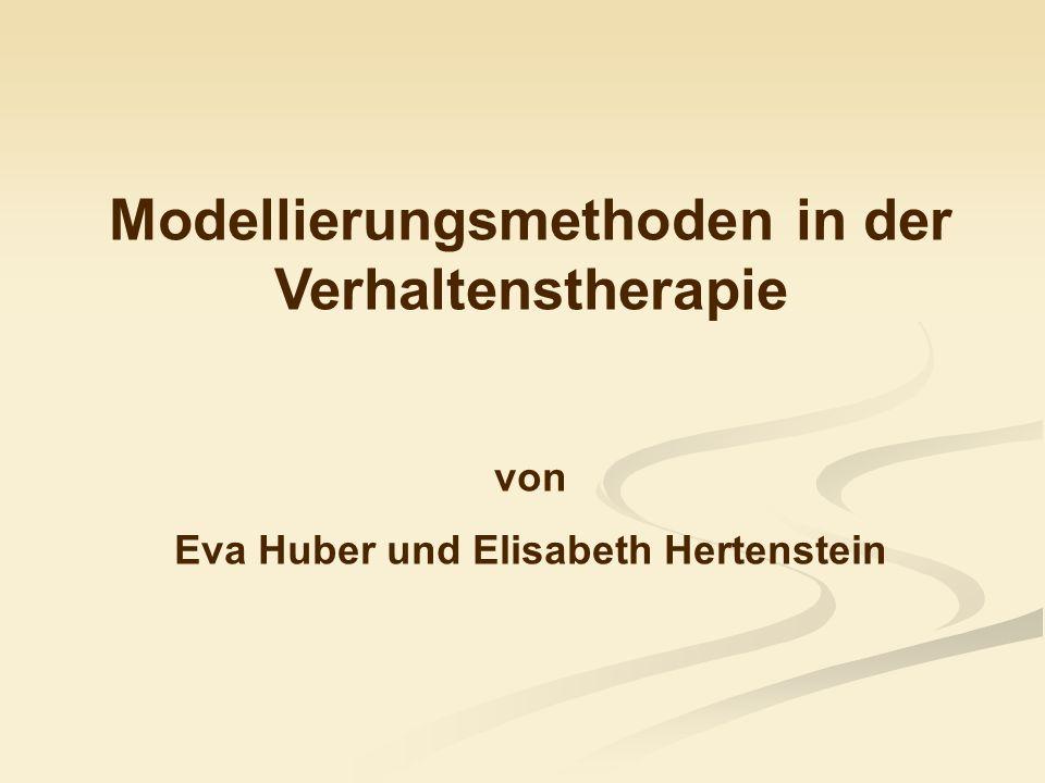 Modellierungsmethoden in der Verhaltenstherapie