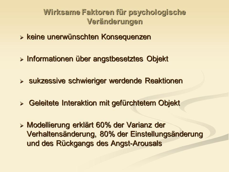 Wirksame Faktoren für psychologische Veränderungen