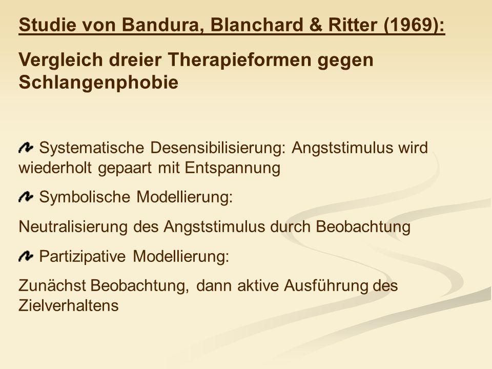 Studie von Bandura, Blanchard & Ritter (1969):