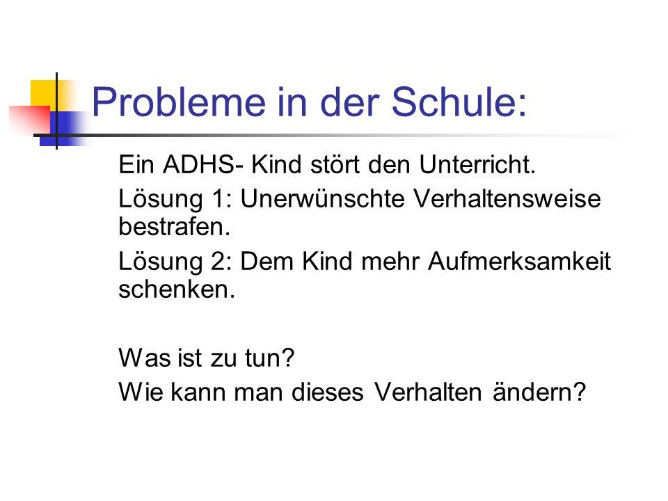 Probleme in der Schule: