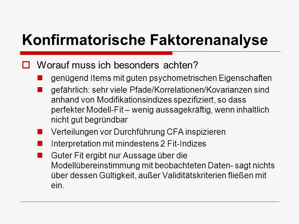Konfirmatorische Faktorenanalyse