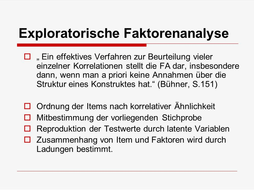 Exploratorische Faktorenanalyse