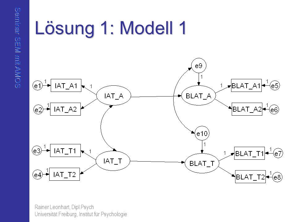 Lösung 1: Modell 1 Rainer Leonhart, Dipl.Psych