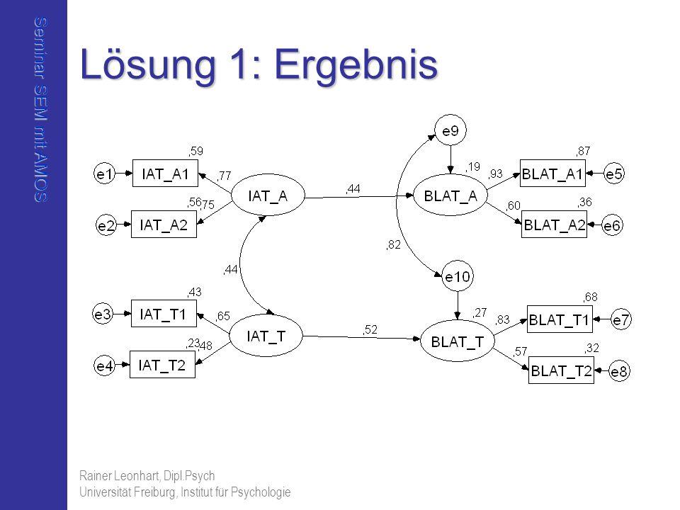 Lösung 1: Ergebnis Rainer Leonhart, Dipl.Psych