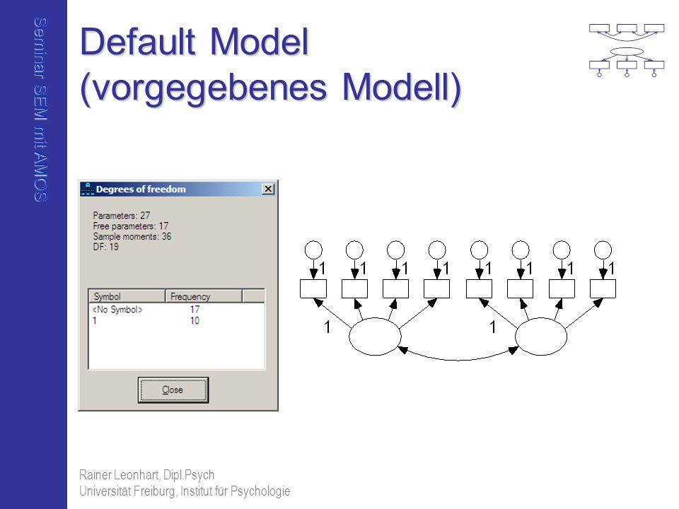 Default Model (vorgegebenes Modell)