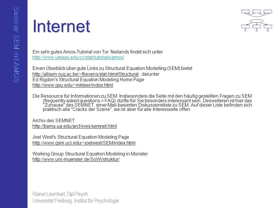 Internet Rainer Leonhart, Dipl.Psych