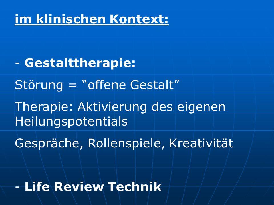 im klinischen Kontext: