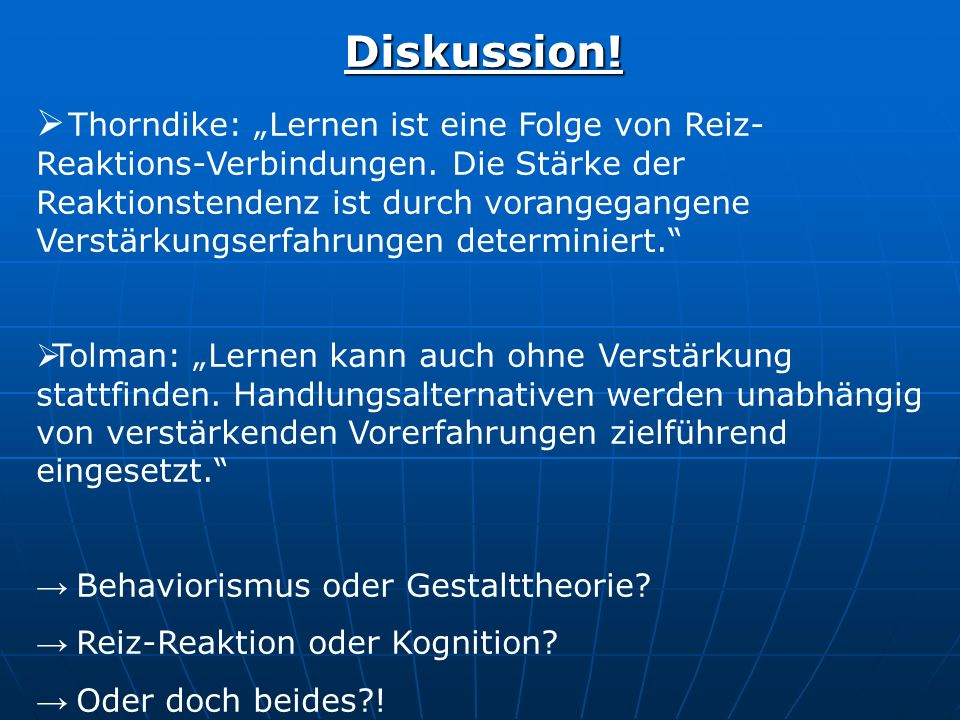 Diskussion!