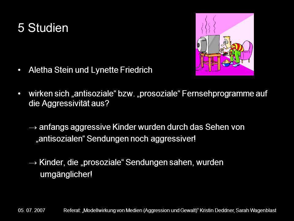 5 Studien Aletha Stein und Lynette Friedrich