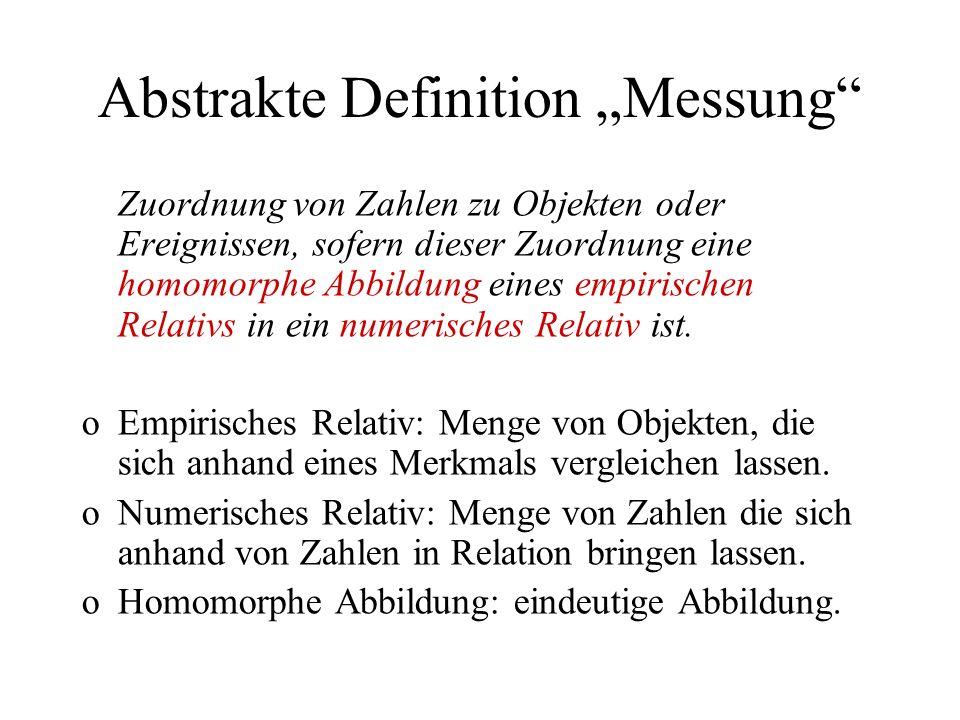 """Abstrakte Definition """"Messung"""