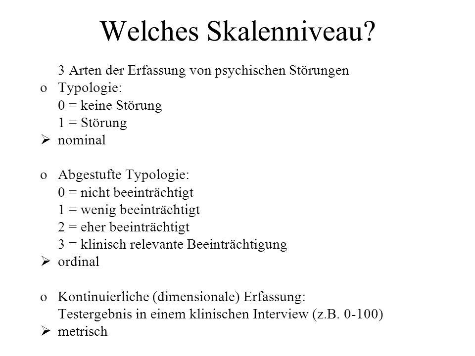 Welches Skalenniveau 3 Arten der Erfassung von psychischen Störungen