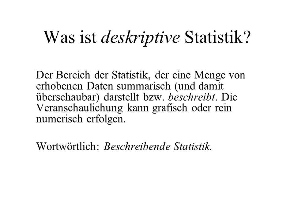 Was ist deskriptive Statistik
