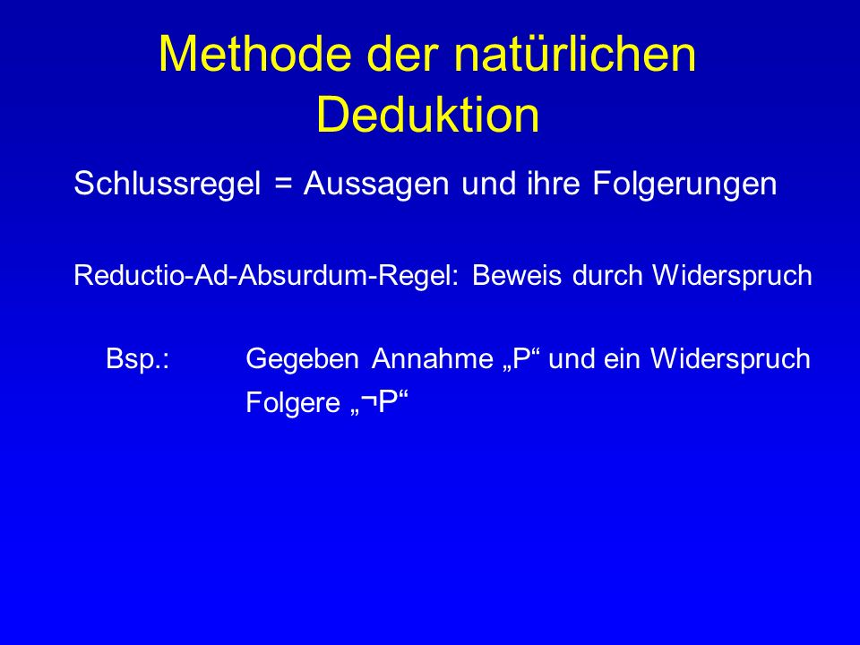 Methode der natürlichen Deduktion