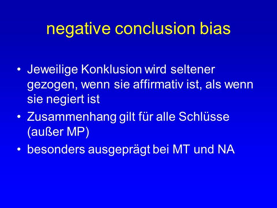 negative conclusion bias
