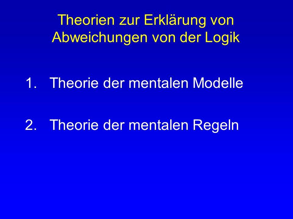 Theorien zur Erklärung von Abweichungen von der Logik