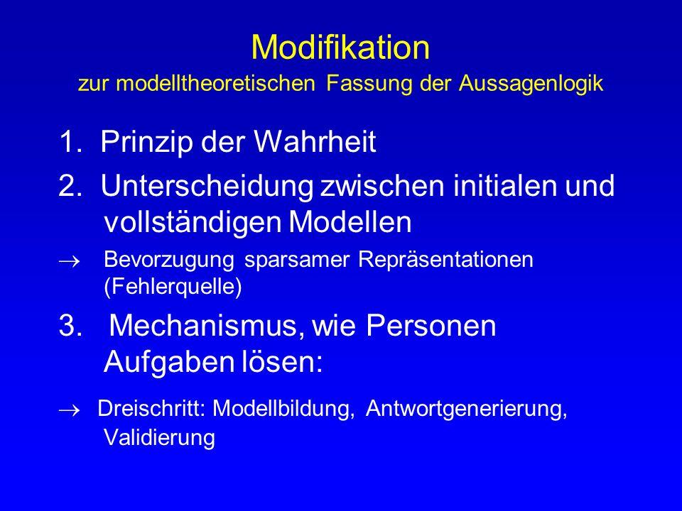 Modifikation zur modelltheoretischen Fassung der Aussagenlogik