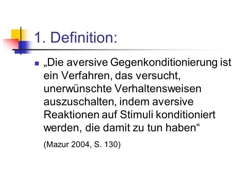 1. Definition: