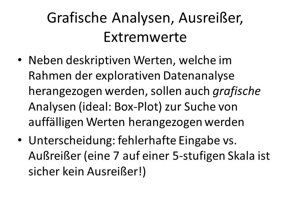 Grafische Analysen, Ausreißer, Extremwerte