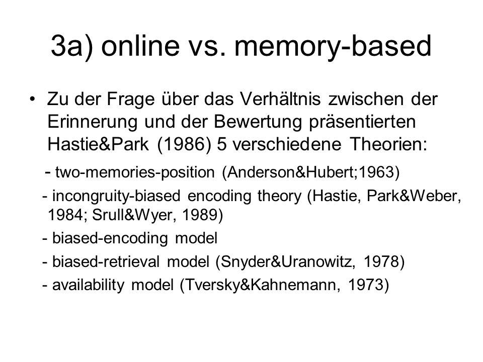 3a) online vs. memory-based
