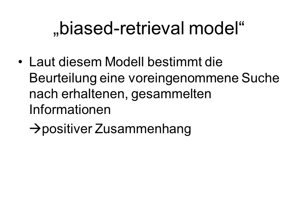 """biased-retrieval model"